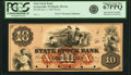 Obsoletes By State:Tennessee, Greeneville, TN- State Stock Bank of Tennessee $10 Jan'y 1, 1857 G4a Garland 324 Proof PCGS Superb Gem New 67PPQ.. ...