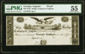 Augusta, GA- Bridge Company of Augusta $20 18__ G24 Proof PMG About Uncirculated 55