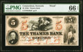 Obsoletes By State:Connecticut, Norwich, CT- Thames Bank $5 18__ G60a Proof PMG Gem Uncirculated 66 EPQ.. ...