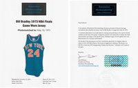 1973 Bill Bradley NBA Finals Game Five Worn New York Knicks Jersey, MEARS A10--Photo Matched!