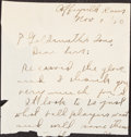 Autographs:Letters, 1910-18 Chief Meyers/Walter Johnson Handwritten Signed Letters Lot of 3.... (Total: 3 items)