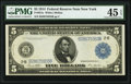 Large Size:Federal Reserve Notes, Fr. 851a $5 1914 Federal Reserve Note PMG Choice Extremely Fine 45 EPQ.. ...