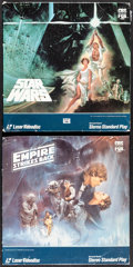 "Movie Posters:Science Fiction, Star Wars & Other Lot (CBS/Fox Video, 1977). Overall: Very Fine-. Laser Disc Sets (2 Sets) (12.25"" X 12.25"") & Mini Posters ... (Total: 41 Items)"