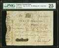 Colonial Notes:Virginia, Virginia July 17, 1775 20s PMG Very Fine 25.. ...
