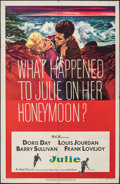 """Movie Posters:Thriller, Julie & Other Lot (MGM, 1956). Folded, Fine+. One Sheets (2) (27"""" X 41""""). Thriller.. ... (Total: 2 Items)"""