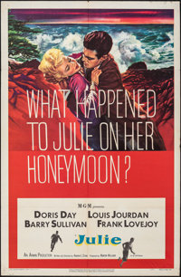 """Julie & Other Lot (MGM, 1956). Folded, Fine+. One Sheets (2) (27"""" X 41""""). Thriller. ... (Total: 2 Items)"""