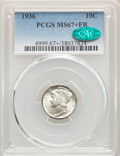 1936 10C MS67+ Full Bands PCGS. CAC. PCGS Population: (279/20). NGC Census: (116/12). CDN: $310 Whsle. Bid for NGC/PCGS...