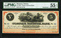 Obsoletes By State:Montana, Helena, MT- The Peoples National Bank of Helena, Montana $5 (ND) Remainder PMG About Uncirculated 55 EPQ.. ...