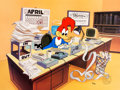 "Animation Art:Limited Edition Cel, ""Accountant"" Woody Woodpecker Profession Series Limited Edition Cel #54/200 (Walter Lantz, 1995)...."