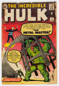 Silver Age (1956-1969):Superhero, The Incredible Hulk #6 (Marvel, 1963) Condition: FR....
