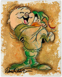 """Dick Duerrstein """"Friar Porky and Robin Hood Daffy"""" Porky Pig and Daffy Duck Limited Edition Giclée Prin..."""