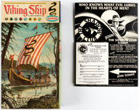 Aurora Viking Ship Model Kit and Phantom and Shadow Related Items Group of 7 (Various Publishers, 1960s-90s).... (Total:...