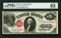 Large Size:Legal Tender Notes, Fr. 36 $1 1917 Legal Tender PMG Choice Uncirculated 63.. ...