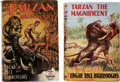 Books:First Editions, Edgar Rice Burroughs. Two Copies of Tarzan the Magnificent. Tarzana and London: [1939-1940]. First and first English...