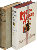 Books:First Editions, Edgar Rice Burroughs. Two Copies of Lost on Venus. Tarzana and London: [1935-1937]. First and colonial editions....