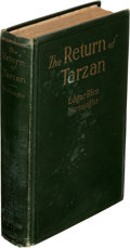 Books:First Editions, Edgar Rice Burroughs. The Return of Tarzan. Chicago: A. C. McClurg & Co., 1915. First edition....
