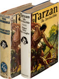 Books:First Editions, Edgar Rice Burroughs. Two Copies of Tarzan the Invincible. Tarzana and London: [1931-1935]. First and first English ... (Total: 2 Items)