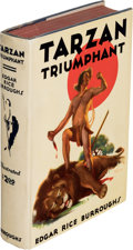 Books:First Editions, Edgar Rice Burroughs. Tarzan Triumphant. Tarzana: Edgar Rice Burroughs, Inc., [1932]. First edition....
