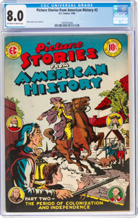 Picture Stories From American History #2 (EC, 1946) CGC VF 8.0 Off-white to white pages