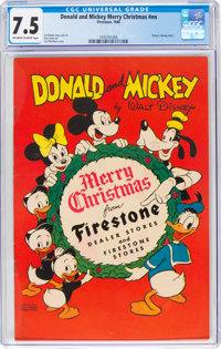 Donald and Mickey Merry Christmas #nn (K. K. Publications, Inc., 1946) CGC VF- 7.5 Off-white to white pages