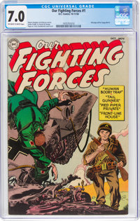 Our Fighting Forces #1 (DC, 1954) CGC FN/VF 7.0 Off-white to white pages