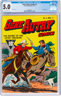Golden Age (1938-1955):Western, Gene Autry Comics #3 (Fawcett Publications, 1942) CGC VG/FN 5.0 Off-white to white pages....