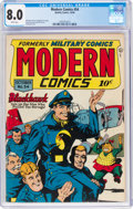 Golden Age (1938-1955):War, Modern Comics #54 (Quality, 1946) CGC VF 8.0 White pages....