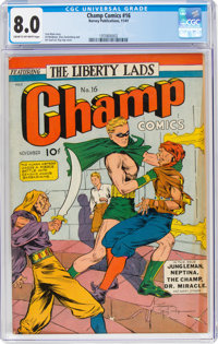 Champ Comics #16 (Harvey, 1941) CGC VF 8.0 Cream to off-white pages