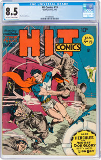 Hit Comics #19 (Quality, 1942) CGC VF+ 8.5 Off-white to white pages