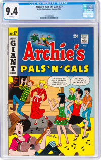 Archie's Pals 'n' Gals #37 (Archie, 1966) CGC NM 9.4 White pages