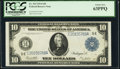 Large Size:Federal Reserve Notes, Fr. 923 $10 1914 Federal Reserve Note PCGS Choice New 63PPQ.. ...