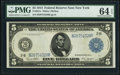 Large Size:Federal Reserve Notes, Fr. 851a $5 1914 Federal Reserve Note PMG Choice Uncirculated 64 EPQ.. ...