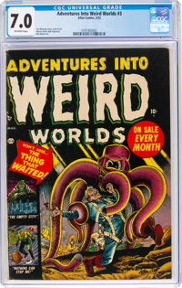 Adventures Into Weird Worlds #3 (Atlas, 1952) CGC FN/VF 7.0 Off-white pages