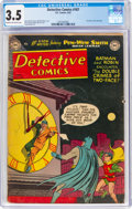 Golden Age (1938-1955):Superhero, Detective Comics #187 (DC, 1952) CGC VG- 3.5 Cream to off-white pages....