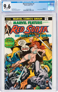 Marvel Feature (2nd Series) #1 Red Sonja (Marvel, 1975) CGC NM+ 9.6 White pages