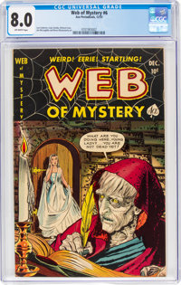 Web of Mystery #6 (Ace, 1951) CGC VF 8.0 Off-white pages