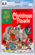 Silver Age (1956-1969):Cartoon Character, Dell Giant #26 Christmas Parade (Dell, 1959) CGC VF+ 8.5 White pages....