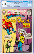 Golden Age (1938-1955):Superhero, Superman's Pal Jimmy Olsen #16 (DC, 1956) CGC FN/VF 7.0 White pages....