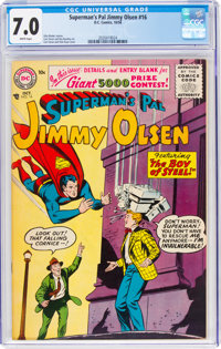 Superman's Pal Jimmy Olsen #16 (DC, 1956) CGC FN/VF 7.0 White pages