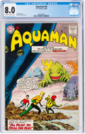 Silver Age (1956-1969):Superhero, Aquaman #8 (DC, 1963) CGC VF 8.0 Off-white to white pages....