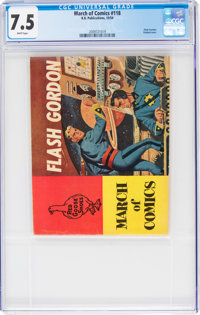 March of Comics #118 Flash Gordon (K. K. Publications, Inc., 1954) CGC VF- 7.5 White pages