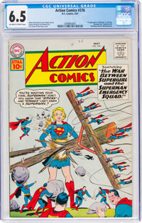 Action Comics #276 (DC, 1961) CGC FN+ 6.5 Off-white to white pages