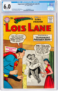 Superman's Girlfriend Lois Lane #2 (DC, 1958) CGC FN 6.0 Off-white pages
