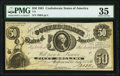 Confederate Notes:1861 Issues, T8 $50 1861 PF-10 Cr. 22 PMG Choice Very Fine 35.. ...