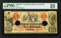 Confederate Notes:1861 Issues, T22 $10 1861 PF-2 Cr. 152 PMG Very Fine 25.. ...