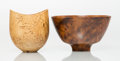 Carvings, Bob Stocksdale (American, 1913-2003). Two Bowls, 1991. Thuya burl, masur birch. 3-3/4 x 6-1/2 inches (9.5 x 16.5 cm) (la... (Total: 2 Items)