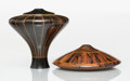 Carvings, Galen Carpenter (American, 1946-2017). Two Vessels, 1990. Turned hardwood. 5-1/2 x 5-1/2 inches (14.0 x 14.0 cm) (talles... (Total: 2 Items)