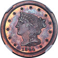 1844 1/2 C Restrike PR65+ Red and Brown NGC. B-3, R.6....(PCGS# 1276)