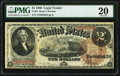 Large Size:Legal Tender Notes, Fr. 52 $2 1880 Legal Tender PMG Very Fine 20.. ...