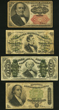 Fr. 1294 25¢ Third Issue Fine; Fr. 1309 25¢ Fifth Issue VF, toning, clipped upper right corner, small edge tea...